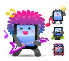 弹吉他的手机图标