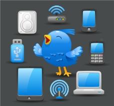 小鸟和通讯产品