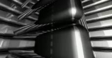 黑色块转动高清动态背景视频素材