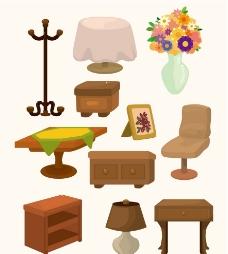 矢量家具图图片