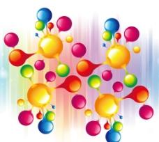 彩色球体背景图片