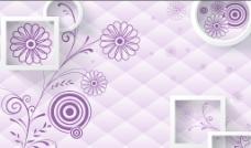 紫色花背景墙图片