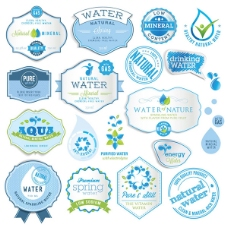 水资源标签标贴设计