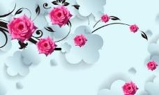 3D花卉背景图