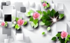花卉3D背景墙