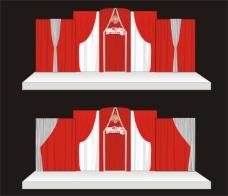 婚庆背景设计 结婚舞台背景设计