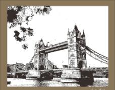 伦敦桥 剪影 照片图片