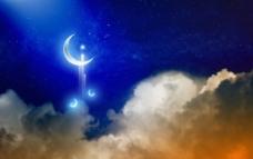 梦幻的月色图片