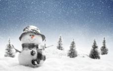 唯美雪人图片