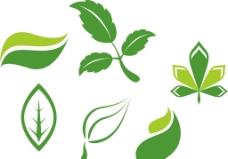 矢量绿色树叶图片