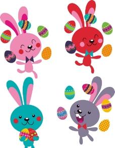 复活节兔子 彩蛋图片