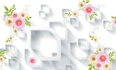3D菊花背景墙