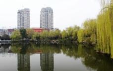 义乌绣湖公园图片