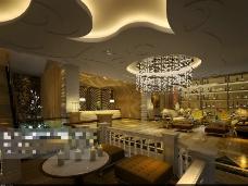 酒吧桑拿场景素材设计3D模型素材