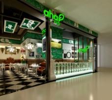 绿色港式茶餐厅