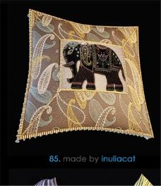 花纹枕头3D模型素材