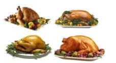 整只烤鸡美食图片PSD