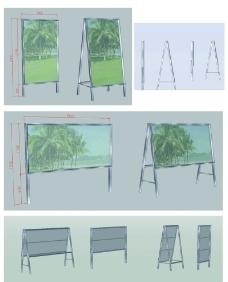 不锈钢宣传栏CAD图图片