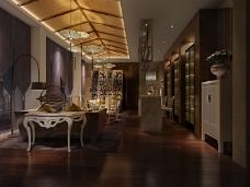 暗色调休闲茶餐厅模型