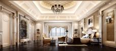 欧式华丽客厅模型