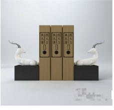 书籍装饰3D模型素材