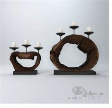 烛台装饰3D模型素材