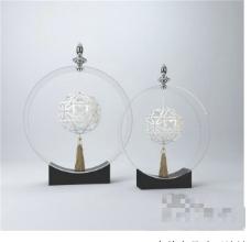 玻璃装饰物3D模型素材