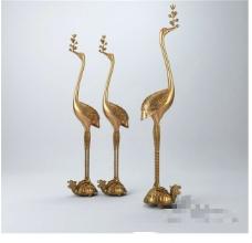 金色装饰3D模型素材