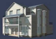单栋洋房建筑模型