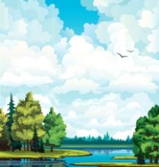 卡通风景画图片