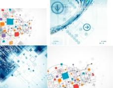 创意电子线路 科技背景图片