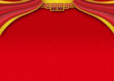 红色喜庆背景墙图片
