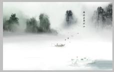 电视背景墙山水装饰风景画