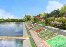 河道绿化效果图图片