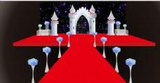 红色城堡婚礼舞台图片