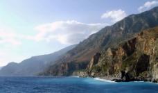 唯美希腊大海图片