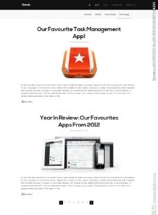 白色简洁的网站模板图片
