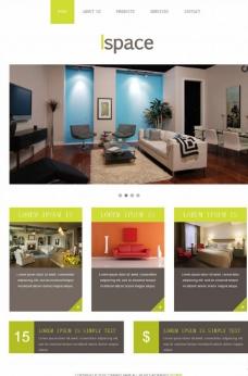 室内建筑网页模板图片