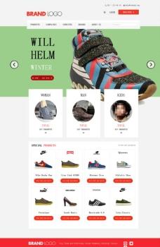 鞋子销售商城网站模板图片