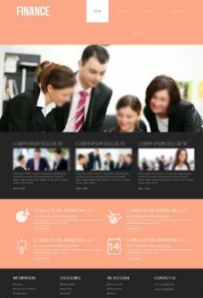 粉色大气商务模板图片