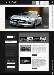 黑色风格汽车展示模板图片