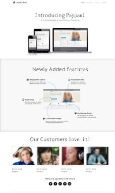 蓝牙耳麦销售网站模板图片