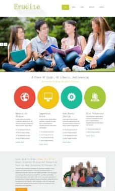 外语培训学校网站模板图片