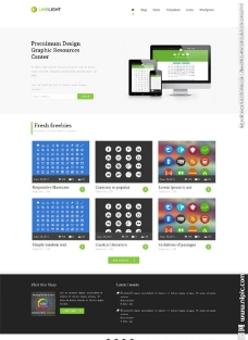 整洁设计网站模板图片