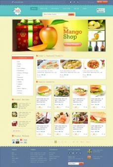美食订餐网站模板图片