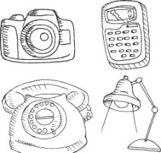 台灯 电话 相机图片
