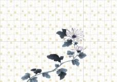 水墨中国风花卉壁布