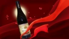 红酒背景海报