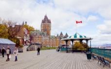 魁北克 港湾 一角图片