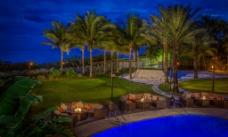 迈阿密 度假村 夜景图片